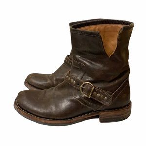 Fiorentini + Baker Eternity Eli Leather Brown Buckle Boots